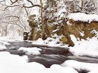 Selkewasserfall im Winter