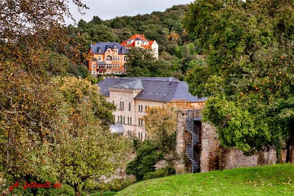 Blick auf das Schlosshotel Blankenburg