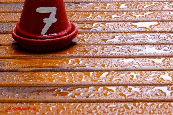 Kennzeichnung Tischnummer Biergarten