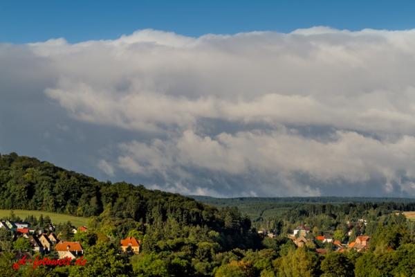 Blick auf die Harzstadt Güntersberge