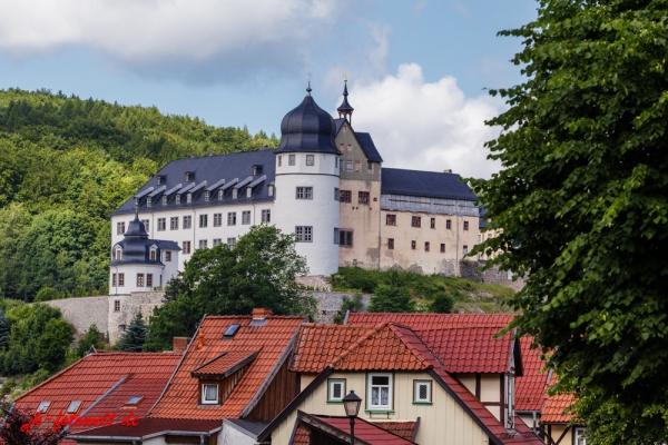 Europastadt Stolberg Harz Blick zum Schloss