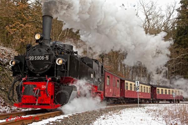 Harzer Schmalspurbahn Selketalbahn im Winter