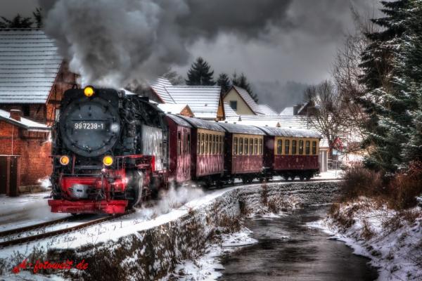 Harzer Schmalspurbahn in Straßberg Harz