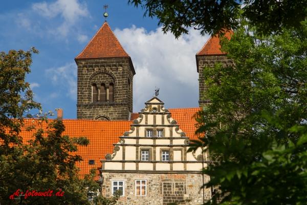 Blick auf das Schloss Quedlinburg