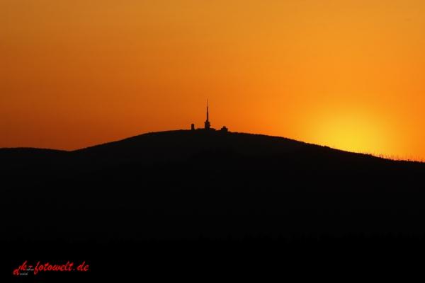 Sonnenuntergang Brocken