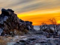 Sonnenaufgang an der Teufelsmauer