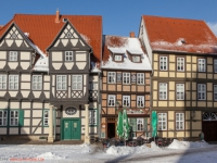 Altstadt von Quedlinburg im Winter