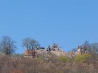 Blick auf die Burgruine Hohnstein Neustadt Harz