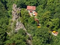 Blick auf die Gaststätte Königsruh im Hirschgrund