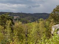 Blick vom Großvaterfelsender Teufelsmauer bei Blankenburg