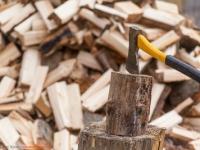Feuerholz Haufen