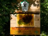 Informationstafel Naturschutzgebiet Bodetal