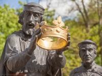 Krönungsszene Heinrichsbrunnen Quedlinburg