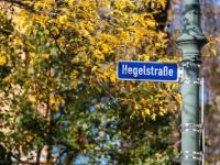 Magdeburg Straßenschild Hegelstraße