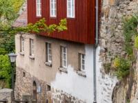 historische Hausfassaden in der Stadt Bautzen
