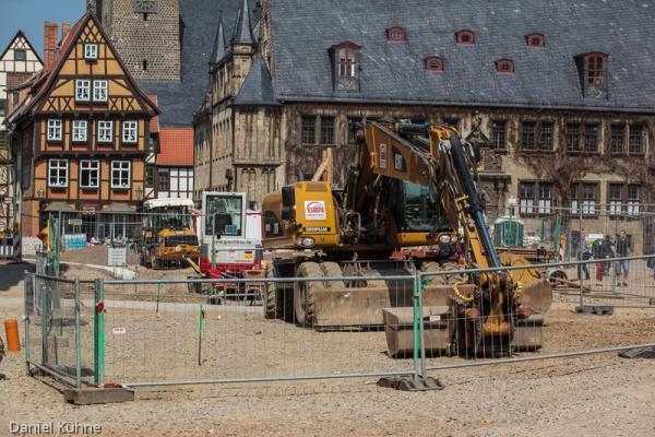 Umgestaltung des Marktplatzes in Quedlinburg