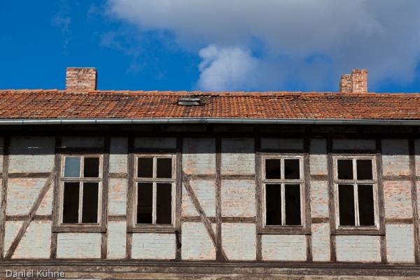 Fachwerkstadt Quedlinburg marodes Fachwerkhaus