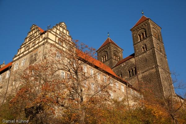 Schloss Quedlinburg im Herbst