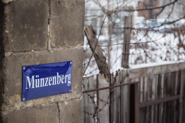 Straßenschild Münzenberg Quedlinburg