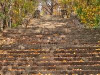 lanhe Natursteintreppe im Herbst