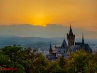 Schloss Wernigerode Harz im Sonnenuntergang-1