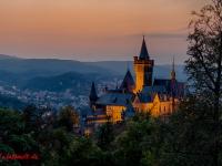 Schloss Wernigerode Harz im Sonnenuntergang-10