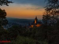 Schloss Wernigerode Harz im Sonnenuntergang-11