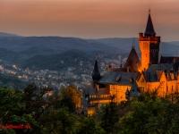 Schloss Wernigerode Harz im Sonnenuntergang-12
