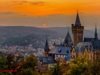 Schloss Wernigerode Harz im Sonnenuntergang-4