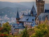 Schloss Wernigerode Harz im Sonnenuntergang-6