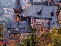 Schloss Wernigerode Harz im Sonnenuntergang-8