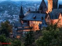 Schloss Wernigerode Harz im Sonnenuntergang-9