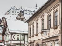 Europastadt Stolberg im Harz Blick zum Schloss