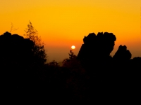 Teufelsmauer im Sonnenaufgang
