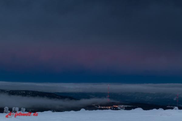 Nationalpark Harz Blick auf das Torfhaus vom Brocken
