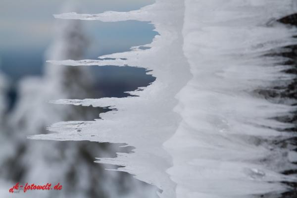 Blick vom Brocken Beschilderung Wanderweg