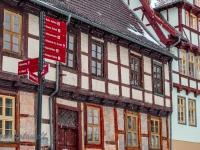 Welterbestadt Quedlinburg im Winter mit Schnee Winterimpressionen_DSF8617