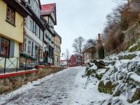 Welterbestadt Quedlinburg im Winter mit Schnee Winterimpressionen_DSF8619