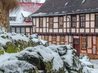 Welterbestadt Quedlinburg im Winter mit Schnee Winterimpressionen_DSF8622