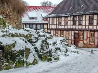 Welterbestadt Quedlinburg im Winter mit Schnee Winterimpressionen_DSF8627