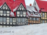 Welterbestadt Quedlinburg im Winter mit Schnee Winterimpressionen_DSF8630