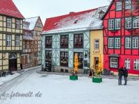 Welterbestadt Quedlinburg im Winter mit Schnee Winterimpressionen_DSF8632
