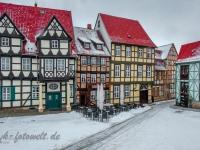 Welterbestadt Quedlinburg im Winter mit Schnee Winterimpressionen_DSF8633