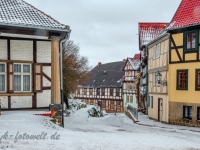 Welterbestadt Quedlinburg im Winter mit Schnee Winterimpressionen_DSF8634