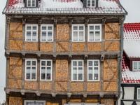 Welterbestadt Quedlinburg im Winter mit Schnee Winterimpressionen_DSF8636