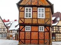 Welterbestadt Quedlinburg im Winter mit Schnee Winterimpressionen_DSF8649
