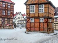 Welterbestadt Quedlinburg im Winter mit Schnee Winterimpressionen_DSF8652