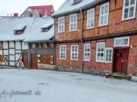 Welterbestadt Quedlinburg im Winter mit Schnee Winterimpressionen_DSF8654