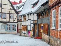 Welterbestadt Quedlinburg im Winter mit Schnee Winterimpressionen_DSF8657