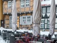 Welterbestadt Quedlinburg im Winter mit Schnee Winterimpressionen_DSF8658